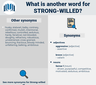 strong willed, synonym strong willed, another word for strong willed, words like strong willed, thesaurus strong willed