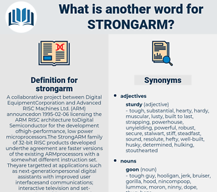 strongarm, synonym strongarm, another word for strongarm, words like strongarm, thesaurus strongarm