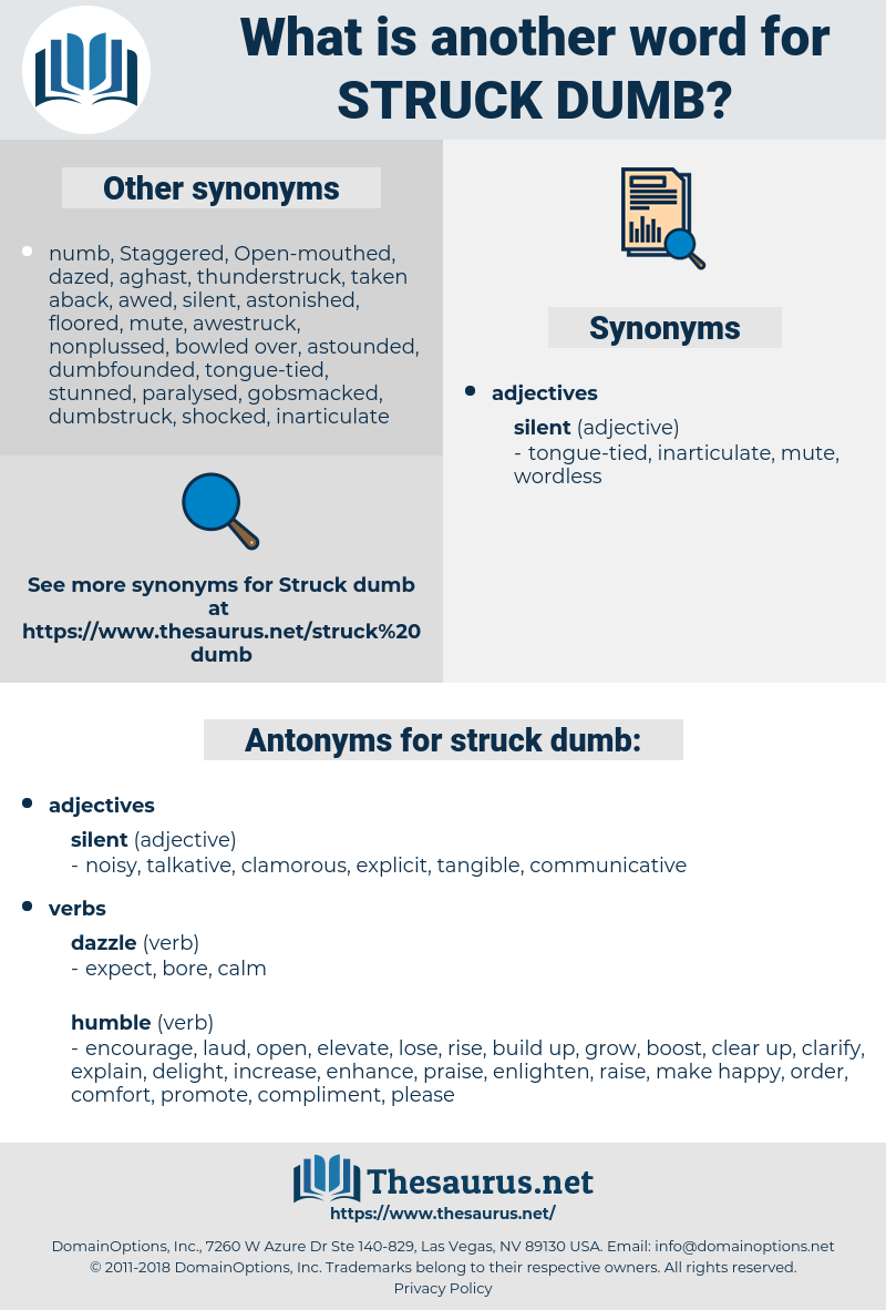 struck dumb, synonym struck dumb, another word for struck dumb, words like struck dumb, thesaurus struck dumb