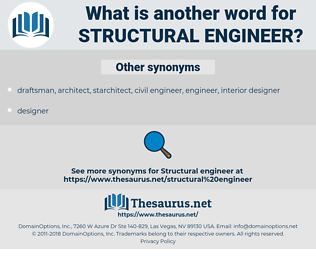 structural engineer, synonym structural engineer, another word for structural engineer, words like structural engineer, thesaurus structural engineer