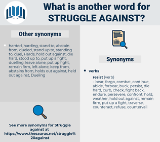 struggle against, synonym struggle against, another word for struggle against, words like struggle against, thesaurus struggle against
