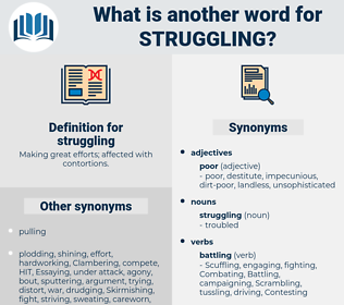 struggling, synonym struggling, another word for struggling, words like struggling, thesaurus struggling