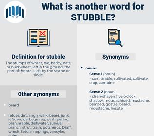 stubble, synonym stubble, another word for stubble, words like stubble, thesaurus stubble