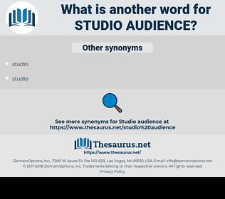 studio audience, synonym studio audience, another word for studio audience, words like studio audience, thesaurus studio audience