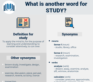 study, synonym study, another word for study, words like study, thesaurus study