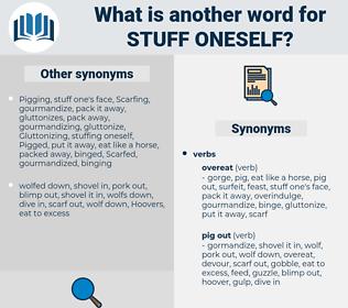 stuff oneself, synonym stuff oneself, another word for stuff oneself, words like stuff oneself, thesaurus stuff oneself