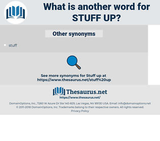 stuff up, synonym stuff up, another word for stuff up, words like stuff up, thesaurus stuff up