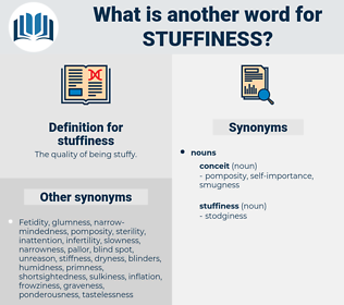 stuffiness, synonym stuffiness, another word for stuffiness, words like stuffiness, thesaurus stuffiness