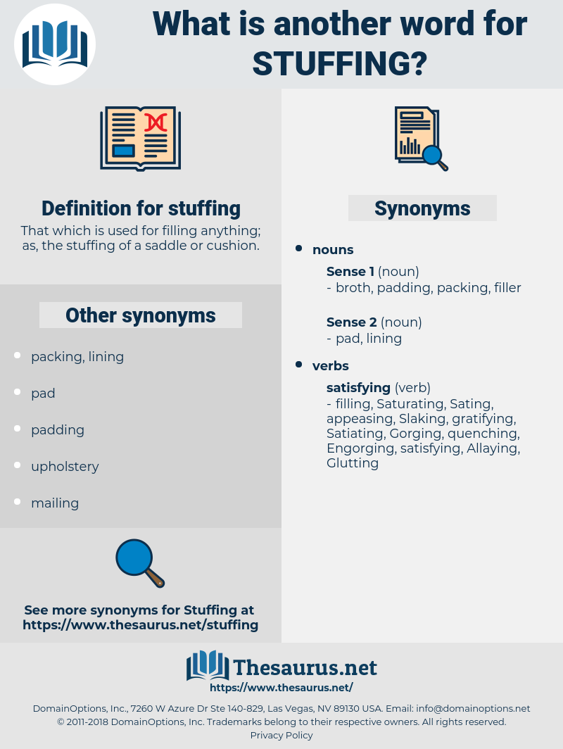 stuffing, synonym stuffing, another word for stuffing, words like stuffing, thesaurus stuffing