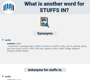 stuffs in, synonym stuffs in, another word for stuffs in, words like stuffs in, thesaurus stuffs in