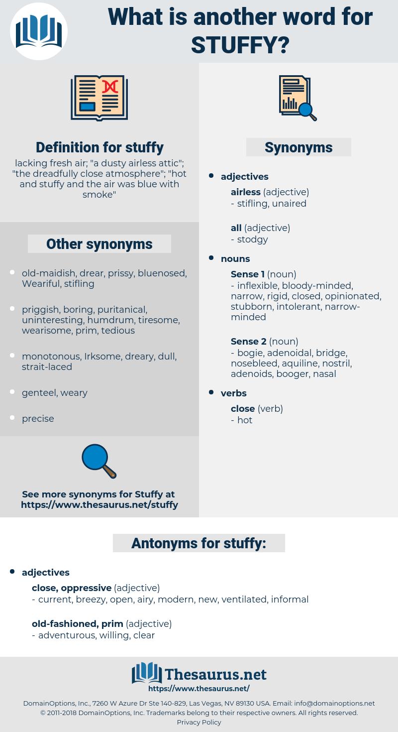 stuffy, synonym stuffy, another word for stuffy, words like stuffy, thesaurus stuffy