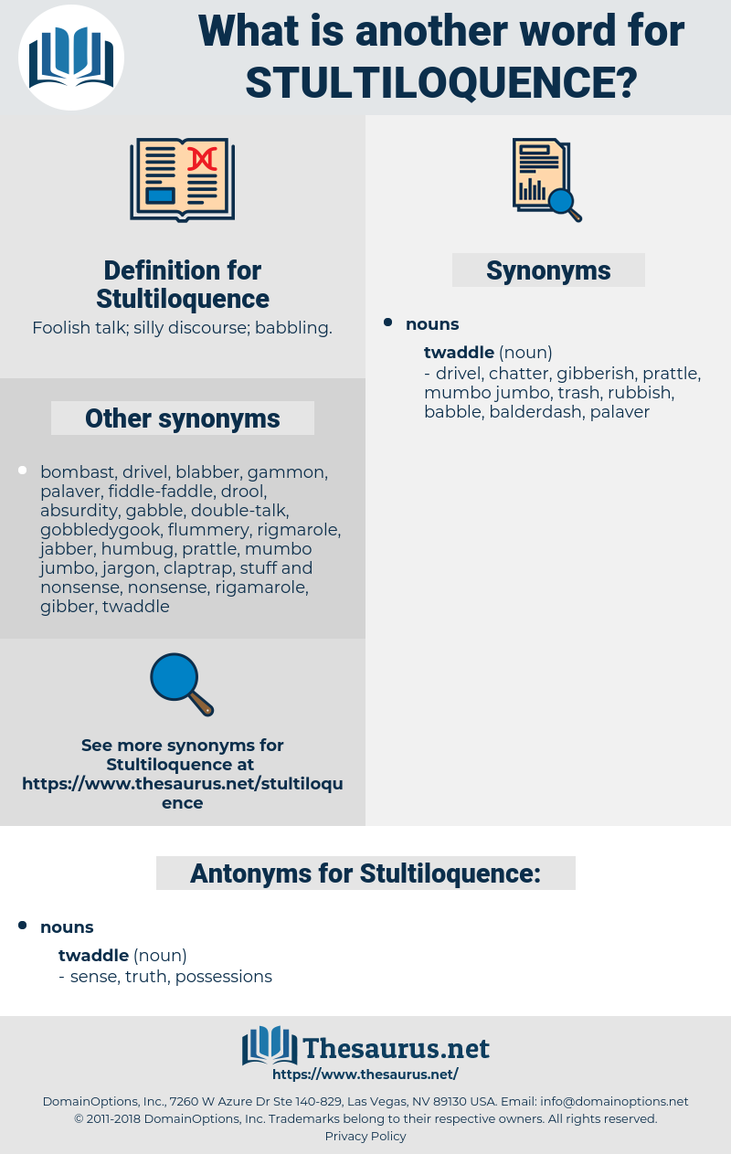 Stultiloquence, synonym Stultiloquence, another word for Stultiloquence, words like Stultiloquence, thesaurus Stultiloquence