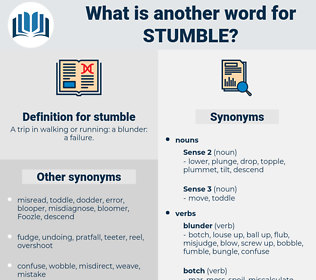 stumble, synonym stumble, another word for stumble, words like stumble, thesaurus stumble
