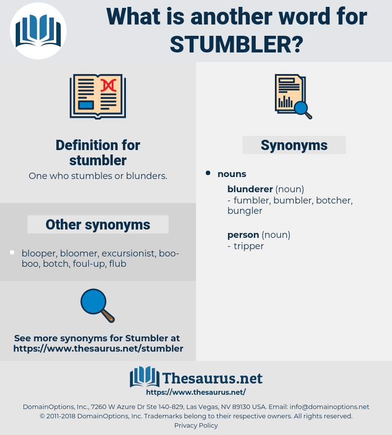 stumbler, synonym stumbler, another word for stumbler, words like stumbler, thesaurus stumbler