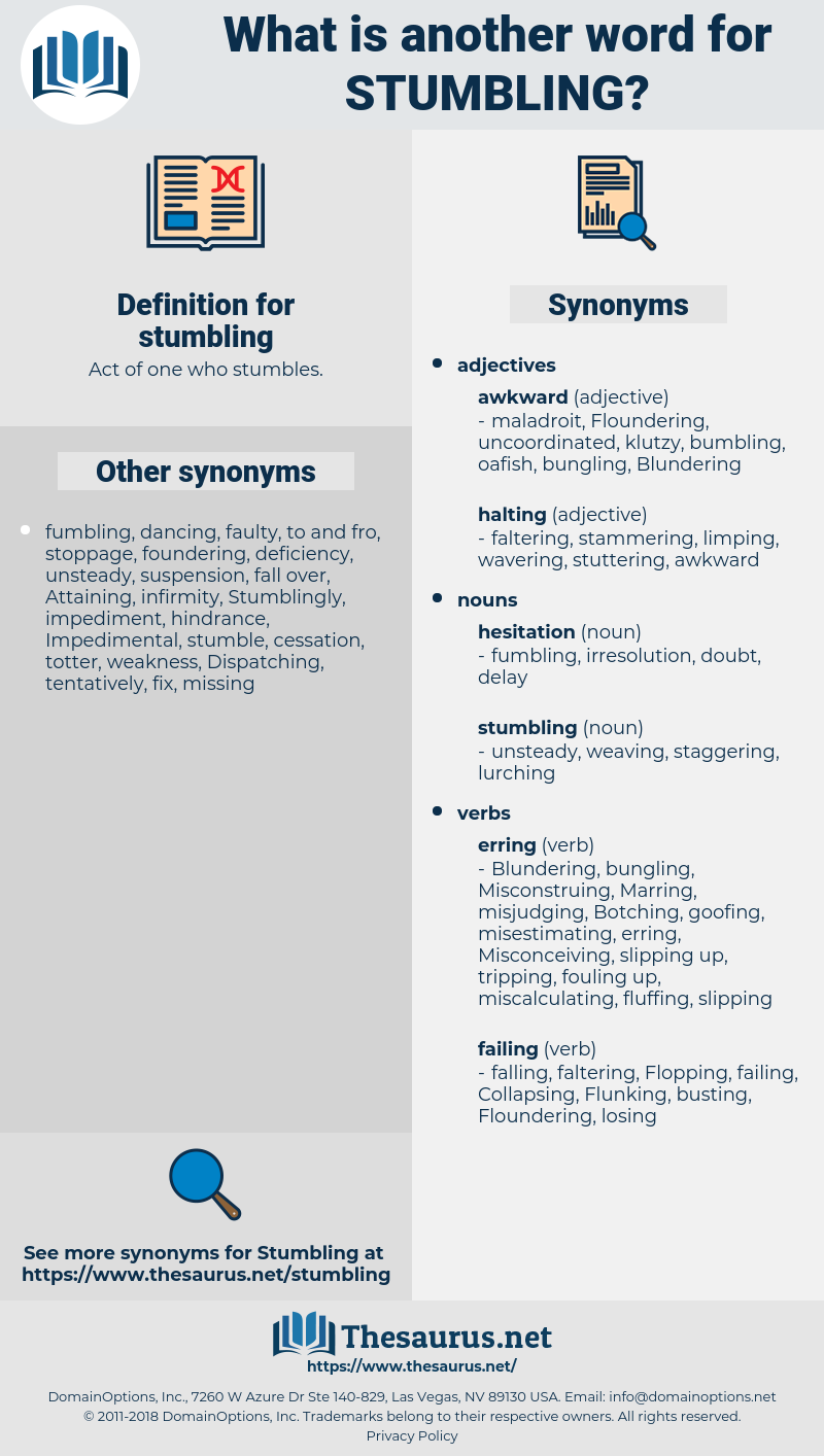 stumbling, synonym stumbling, another word for stumbling, words like stumbling, thesaurus stumbling