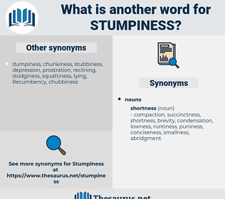 Stumpiness, synonym Stumpiness, another word for Stumpiness, words like Stumpiness, thesaurus Stumpiness