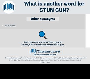 stun gun, synonym stun gun, another word for stun gun, words like stun gun, thesaurus stun gun