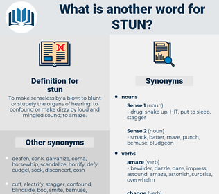 stun, synonym stun, another word for stun, words like stun, thesaurus stun