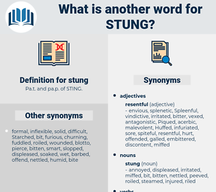 stung, synonym stung, another word for stung, words like stung, thesaurus stung