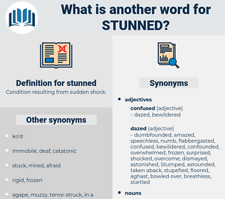 stunned, synonym stunned, another word for stunned, words like stunned, thesaurus stunned
