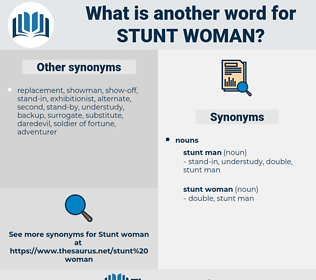 stunt woman, synonym stunt woman, another word for stunt woman, words like stunt woman, thesaurus stunt woman