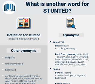 stunted, synonym stunted, another word for stunted, words like stunted, thesaurus stunted