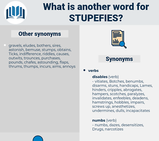 stupefies, synonym stupefies, another word for stupefies, words like stupefies, thesaurus stupefies