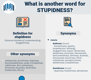 stupidness, synonym stupidness, another word for stupidness, words like stupidness, thesaurus stupidness
