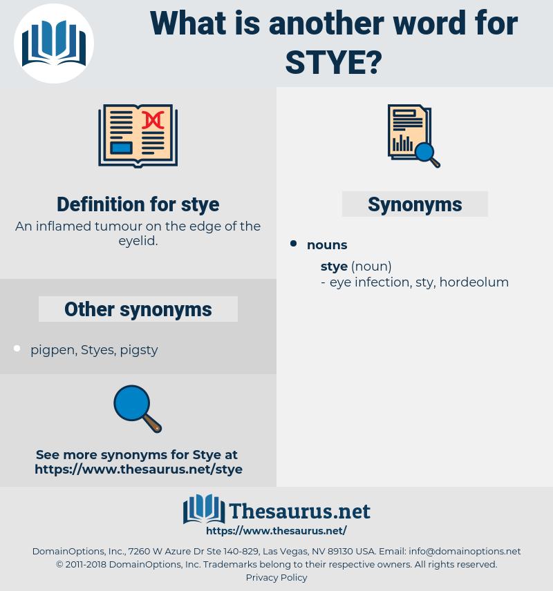 stye, synonym stye, another word for stye, words like stye, thesaurus stye