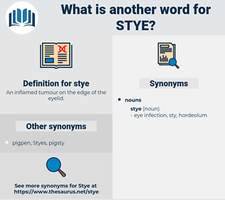 stye, synonym stye, another word for stye, words like stye, thesaurus stye