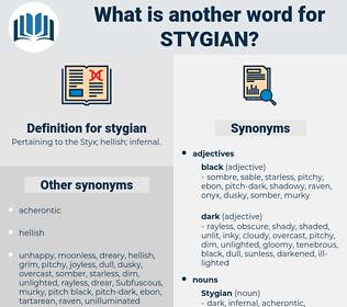 stygian, synonym stygian, another word for stygian, words like stygian, thesaurus stygian