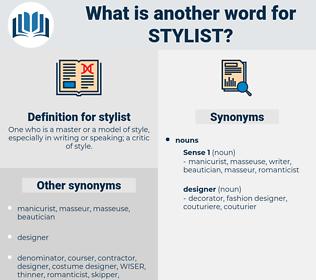 stylist, synonym stylist, another word for stylist, words like stylist, thesaurus stylist