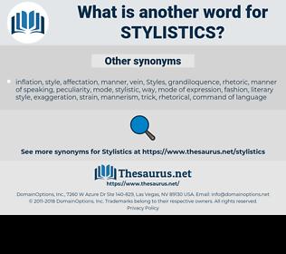 stylistics, synonym stylistics, another word for stylistics, words like stylistics, thesaurus stylistics