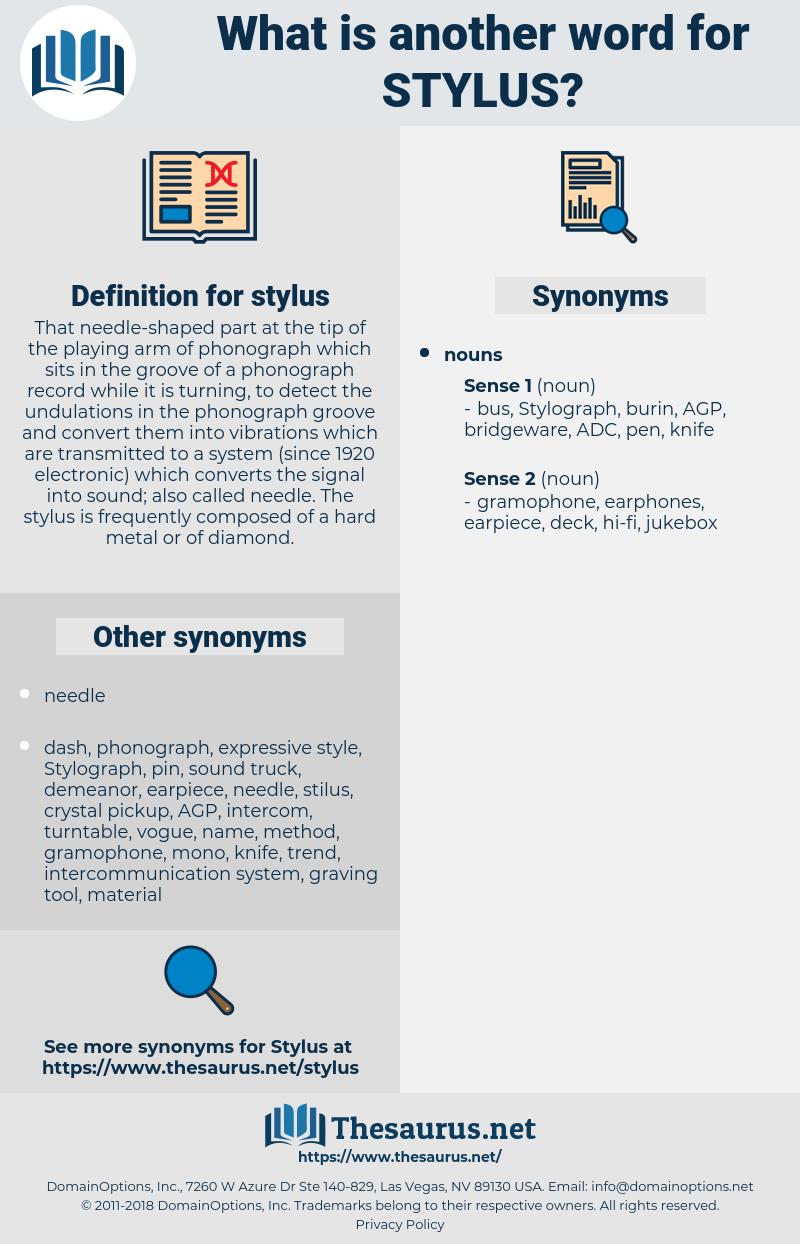 stylus, synonym stylus, another word for stylus, words like stylus, thesaurus stylus