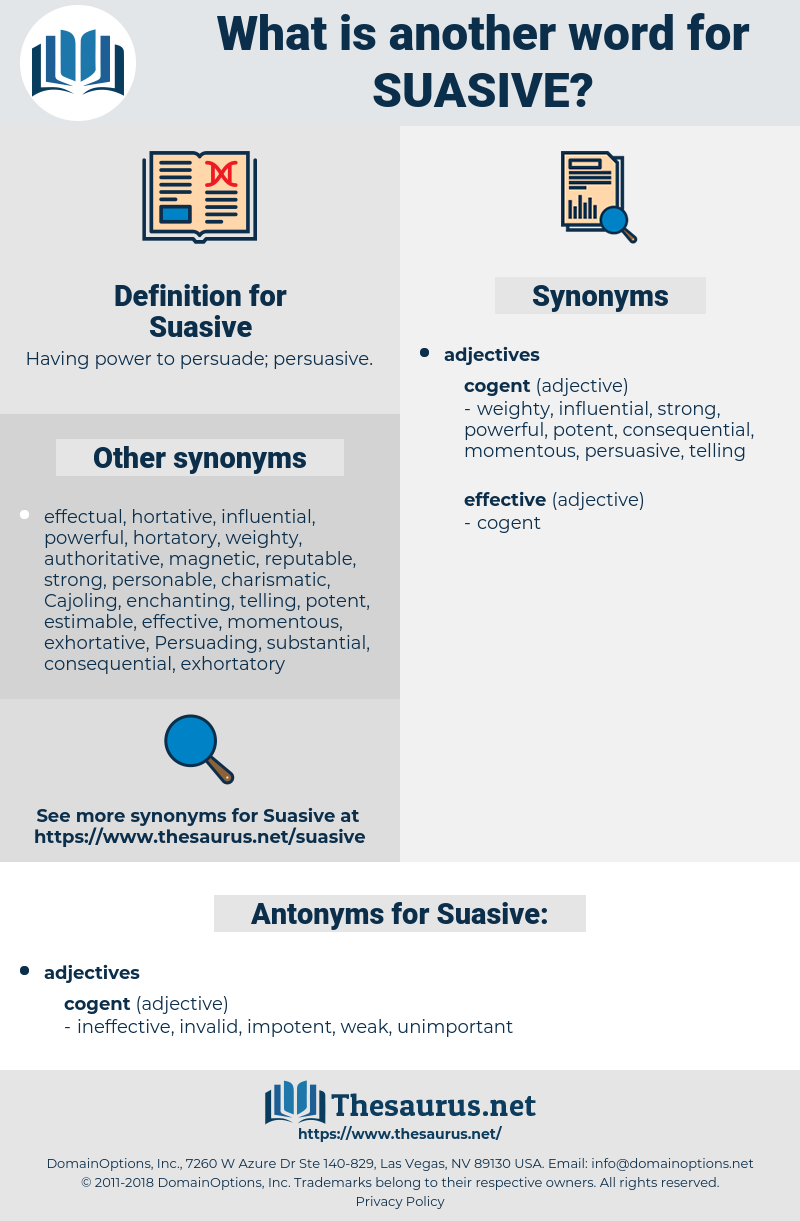 Suasive, synonym Suasive, another word for Suasive, words like Suasive, thesaurus Suasive