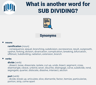 sub dividing, synonym sub dividing, another word for sub dividing, words like sub dividing, thesaurus sub dividing