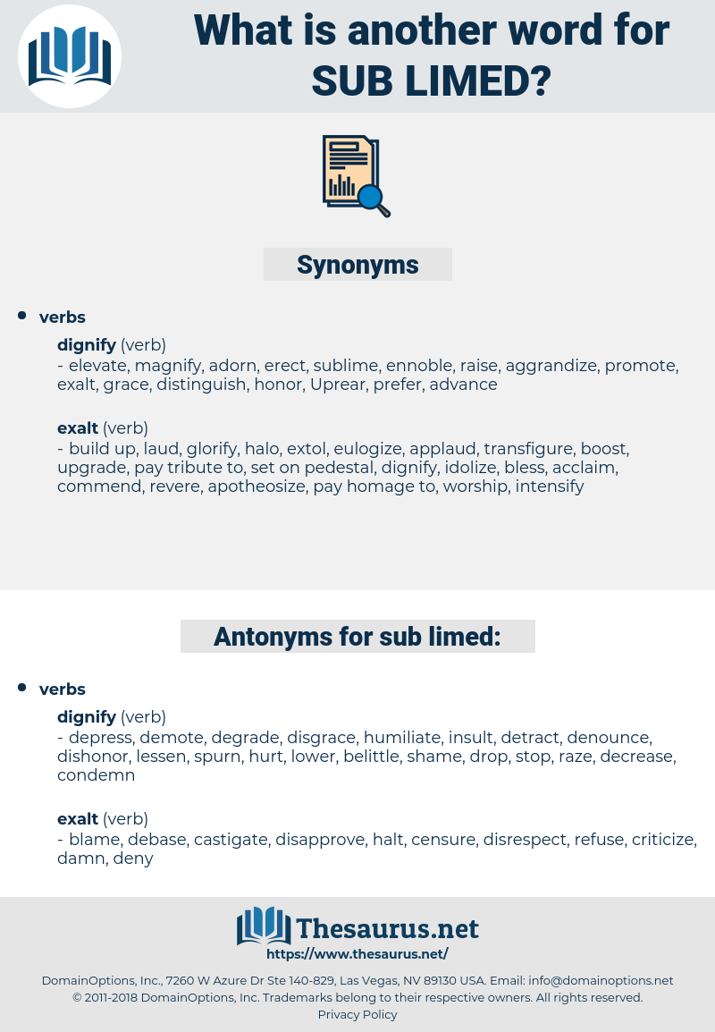 sub-limed, synonym sub-limed, another word for sub-limed, words like sub-limed, thesaurus sub-limed