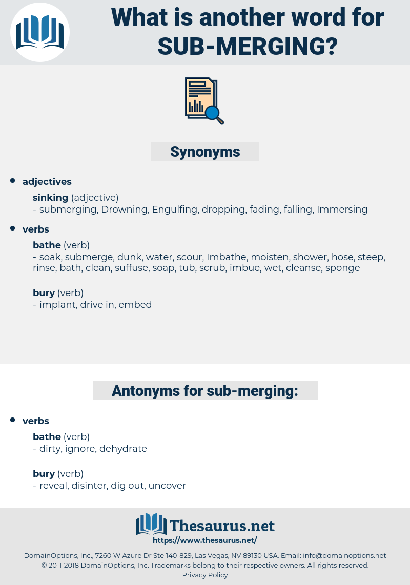 sub merging, synonym sub merging, another word for sub merging, words like sub merging, thesaurus sub merging
