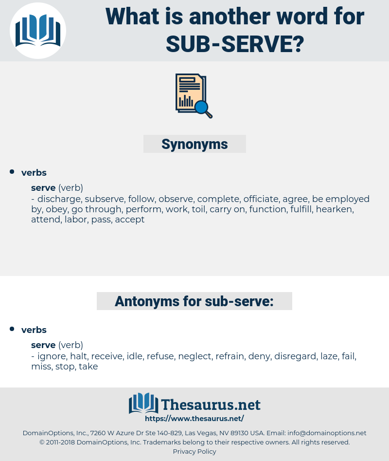 sub serve, synonym sub serve, another word for sub serve, words like sub serve, thesaurus sub serve