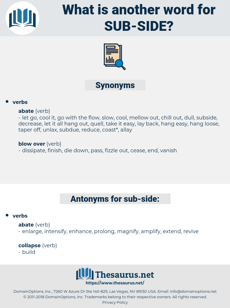 sub side, synonym sub side, another word for sub side, words like sub side, thesaurus sub side