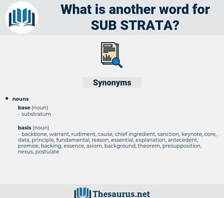 sub-strata, synonym sub-strata, another word for sub-strata, words like sub-strata, thesaurus sub-strata