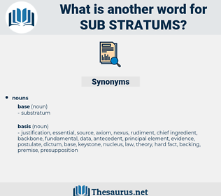 sub-stratums, synonym sub-stratums, another word for sub-stratums, words like sub-stratums, thesaurus sub-stratums
