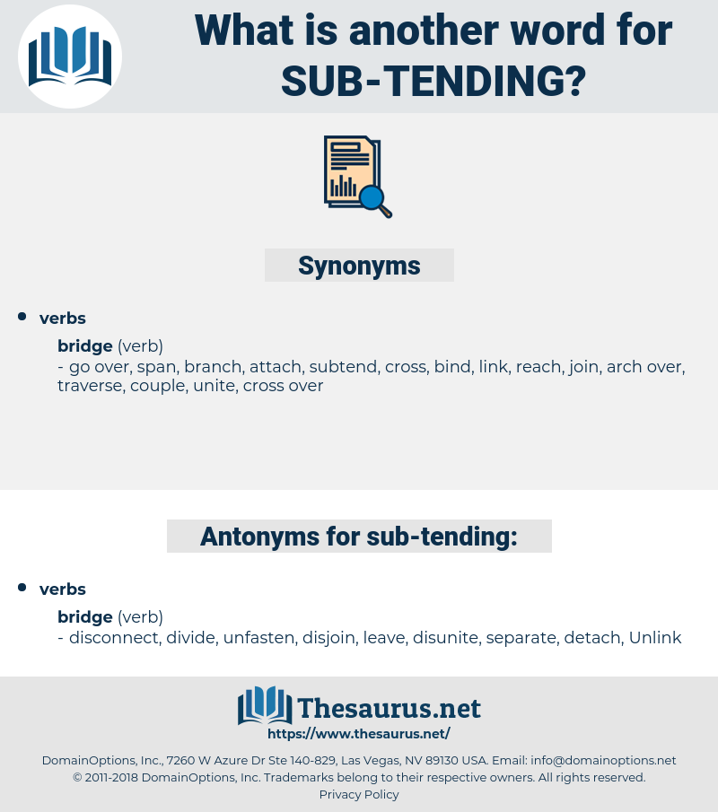 sub-tending, synonym sub-tending, another word for sub-tending, words like sub-tending, thesaurus sub-tending