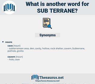 sub-terrane, synonym sub-terrane, another word for sub-terrane, words like sub-terrane, thesaurus sub-terrane