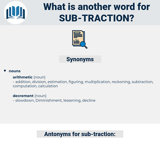 sub-traction, synonym sub-traction, another word for sub-traction, words like sub-traction, thesaurus sub-traction