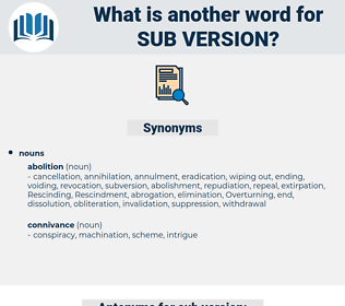 sub version, synonym sub version, another word for sub version, words like sub version, thesaurus sub version