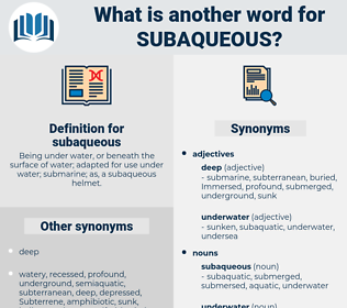 subaqueous, synonym subaqueous, another word for subaqueous, words like subaqueous, thesaurus subaqueous