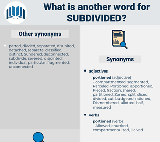 subdivided, synonym subdivided, another word for subdivided, words like subdivided, thesaurus subdivided
