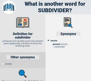 subdivider, synonym subdivider, another word for subdivider, words like subdivider, thesaurus subdivider