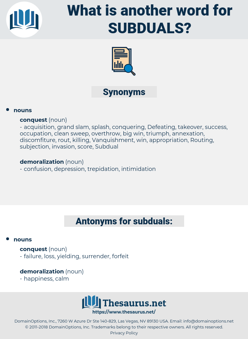 subduals, synonym subduals, another word for subduals, words like subduals, thesaurus subduals